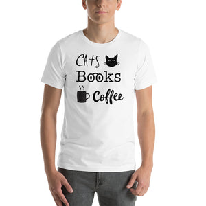 Cats Books Coffee Men/Unisex Tee