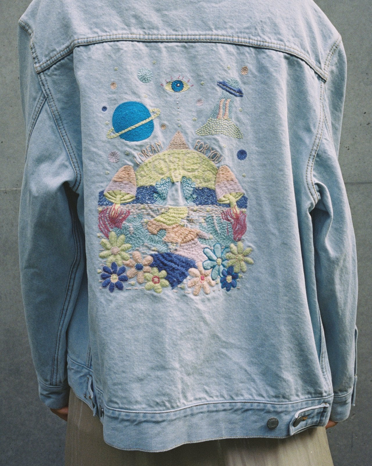 Denim Jacket with Embroidery