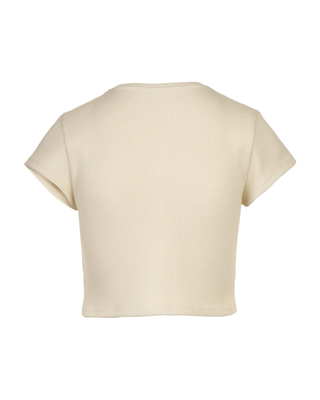 Ribbed Crop -  Beige