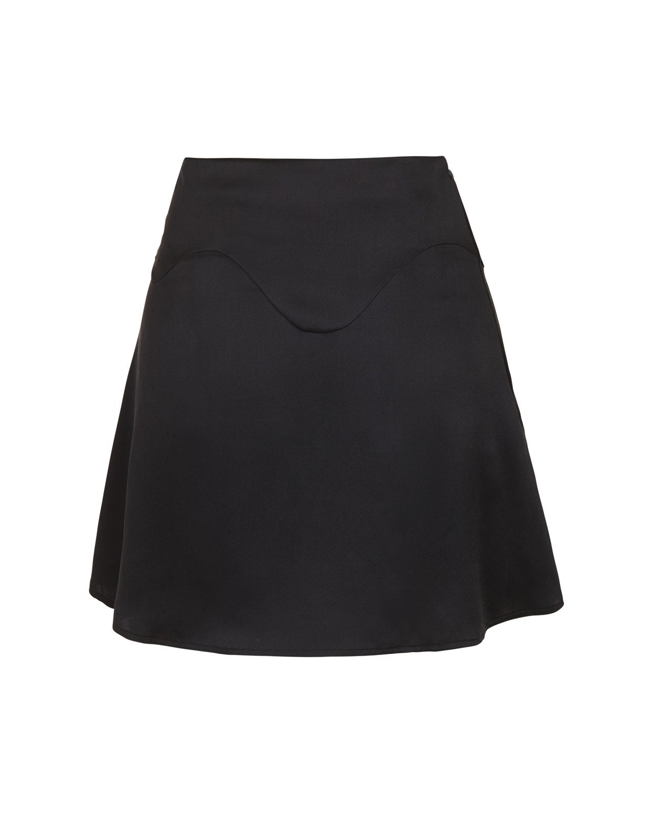 Wave Silk Skirt – Black