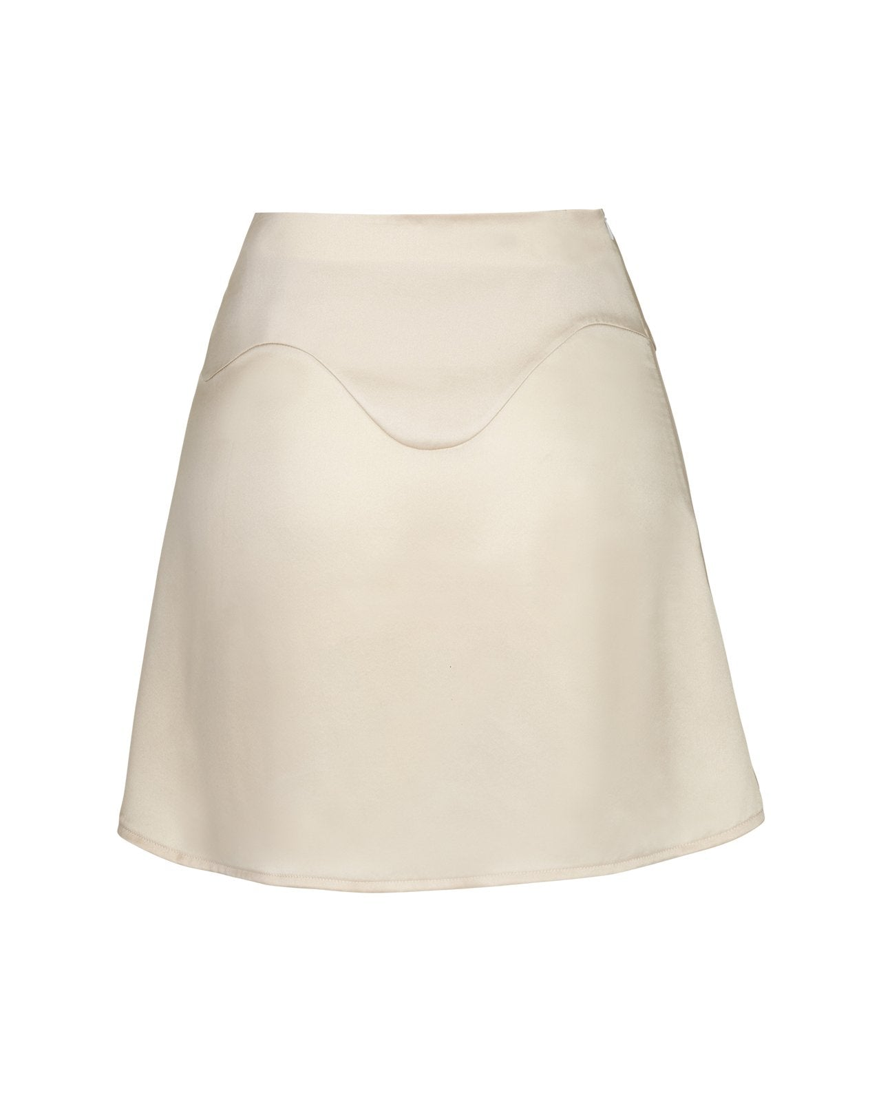 Wave Silk Skirt – Champagne