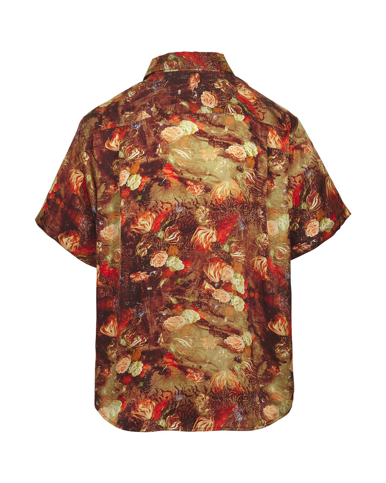 Silk Shirt – Red Bloom