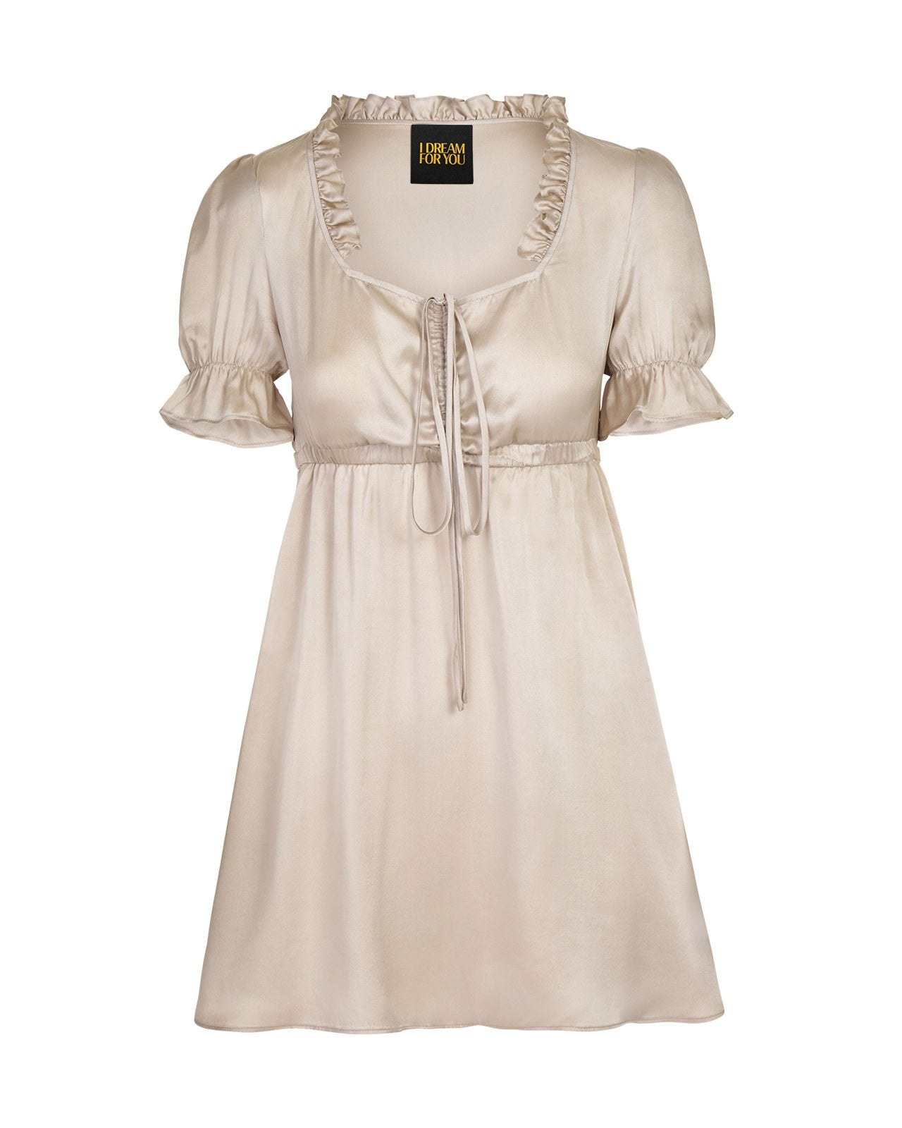 Venus Dress – Silver Silk