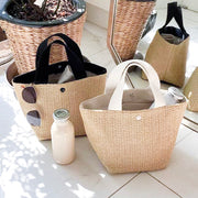 Evelyn Straw Tote