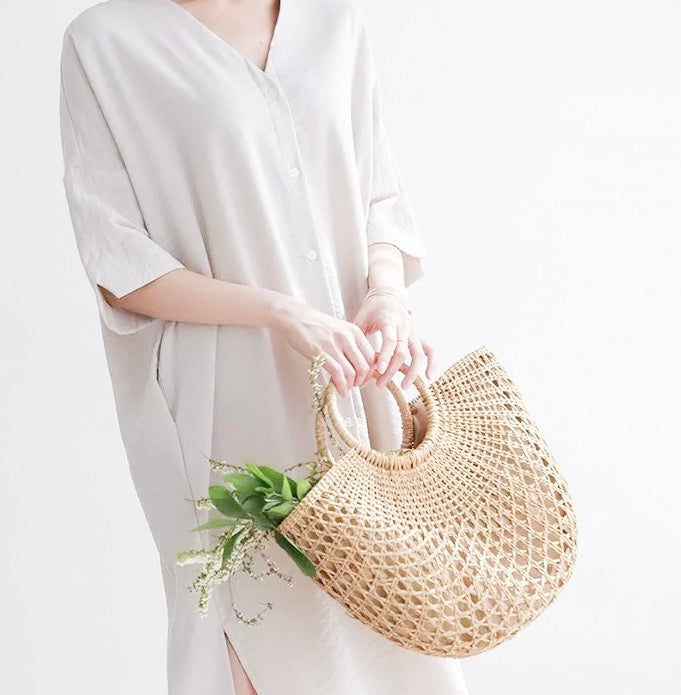 Aveline Straw Tote Bag