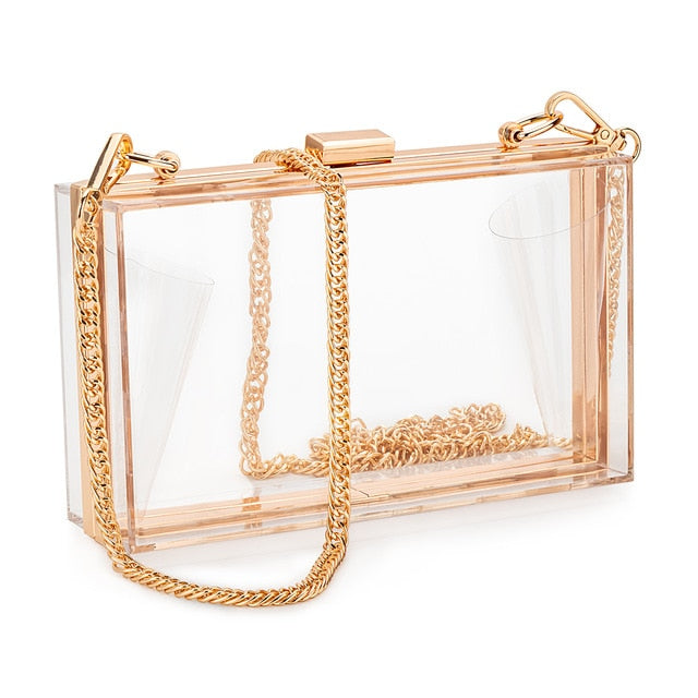 Meline Clear Clutch