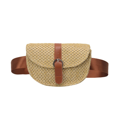 Lynette Straw Belt Bag
