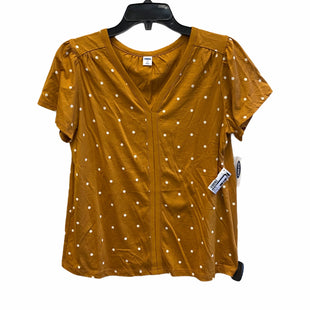 Primary Photo - BRAND: OLD NAVY STYLE: TOP SHORT SLEEVE COLOR: MUSTARD SIZE: XS SKU: 159-159192-15459BIM: 9048