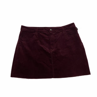Primary Photo - BRAND: FOREVER 21 STYLE: SKIRT COLOR: BURGUNDY SIZE: 2X SKU: 159-159201-15189