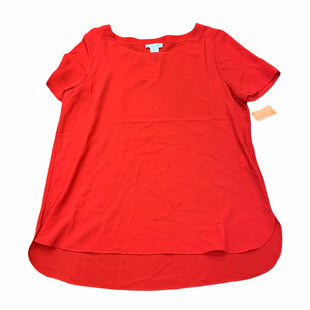 Primary Photo - BRAND: ADRIENNE VITTADINI STYLE: TOP SHORT SLEEVE COLOR: RED SIZE: L SKU: 159-159267-1386