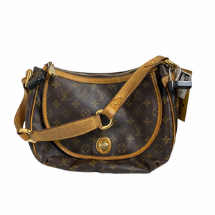 Primary Photo - BRAND: LOUIS VUITTON TULUM PM STYLE: HANDBAG DESIGNER COLOR: BROWN SIZE: MEDIUM OTHER INFO: AS IS LIGHT WEAR.  SEE PHOTO FOR SMALL HOLE IN ZIPPER. SKU: 159-159254-1928. DATE CODE: SD0066.