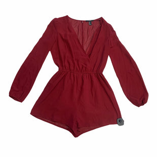 Primary Photo - BRAND: FOREVER 21 STYLE: DRESS SHORT LONG SLEEVE COLOR: BRICK RED SIZE: L SKU: 159-159260-860