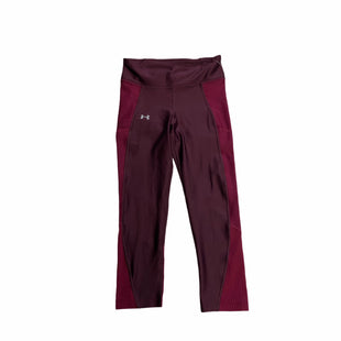 Primary Photo - BRAND: UNDER ARMOUR STYLE: ATHLETIC CAPRIS COLOR: BURGUNDY SIZE: XS SKU: 159-159192-16611