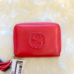 Primary Photo - BRAND: GUCCI STYLE: WALLET COLOR: RED SIZE: SMALL OTHER INFO: AS IS SKU: 159-159232-8192