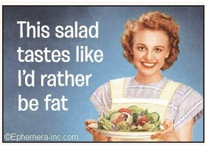 Rectangle Magnet- This salad tastes like I'd rather be fat