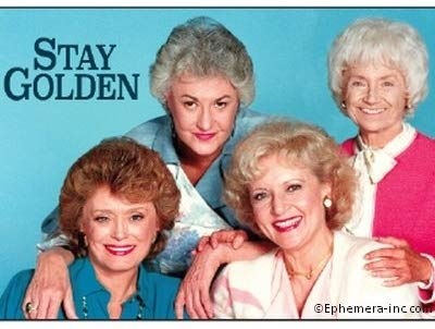 Stay Golden Rectangular Magnet