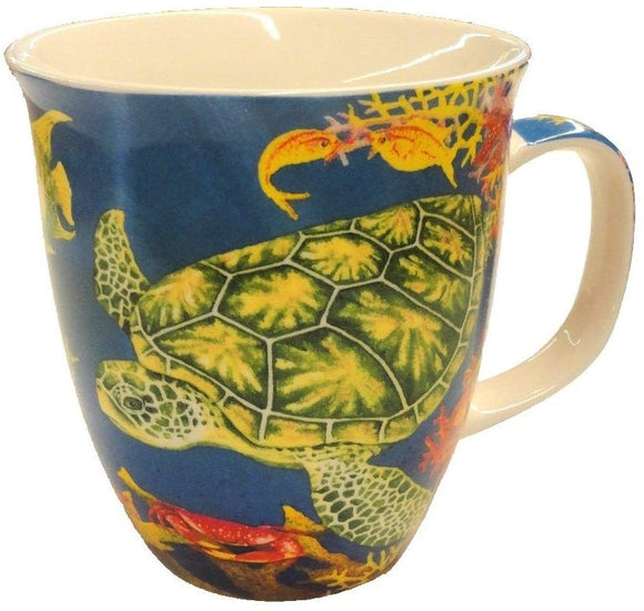 Swimming Sea Turtle Coffee or Tea Ceramic Mug