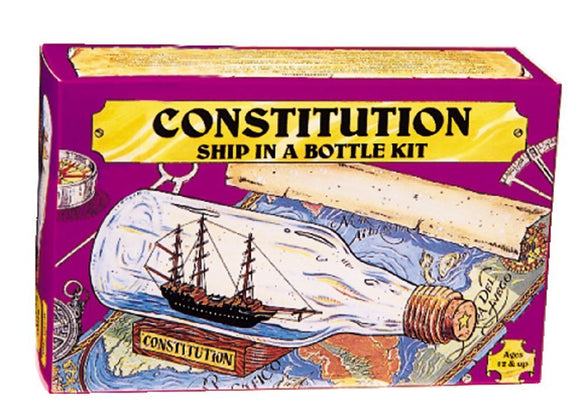 203 Ship in Bottle Constitution Kit