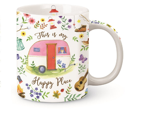 This is My Happy Place Camper Shore Mug Porcelain 13 OuncesCape Shore (Standard version)