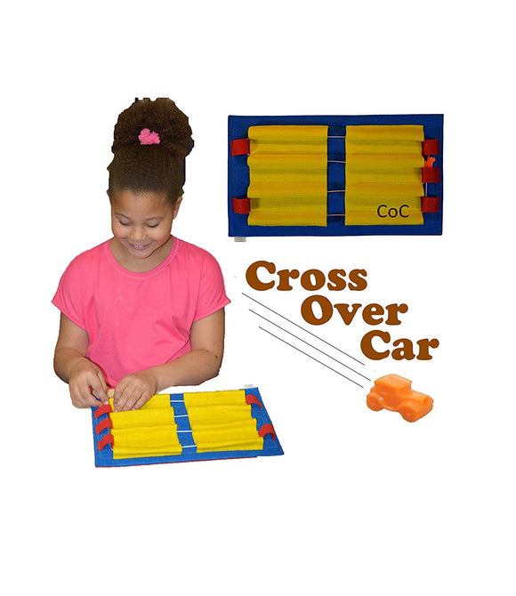 HandiThings COC Cross Over Car, One Size, Red, Blue, Yellow