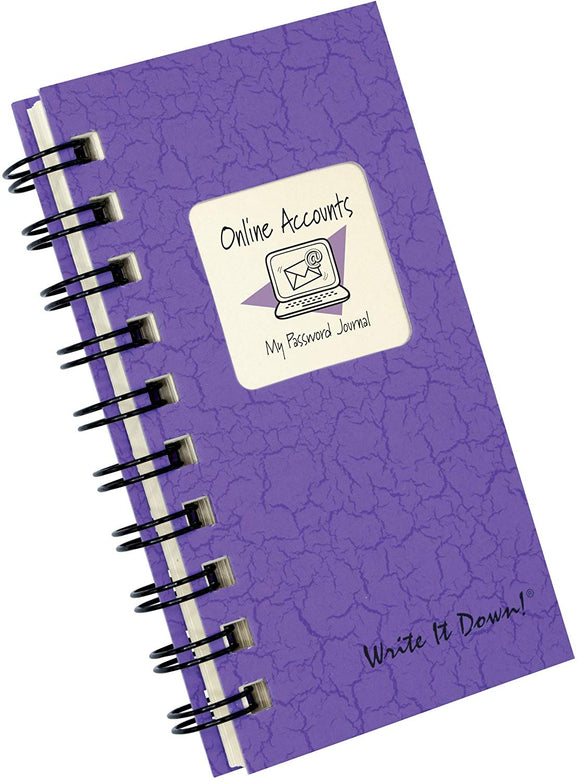 An Online Journal - My Password Journal, MINI Color Hard Cover