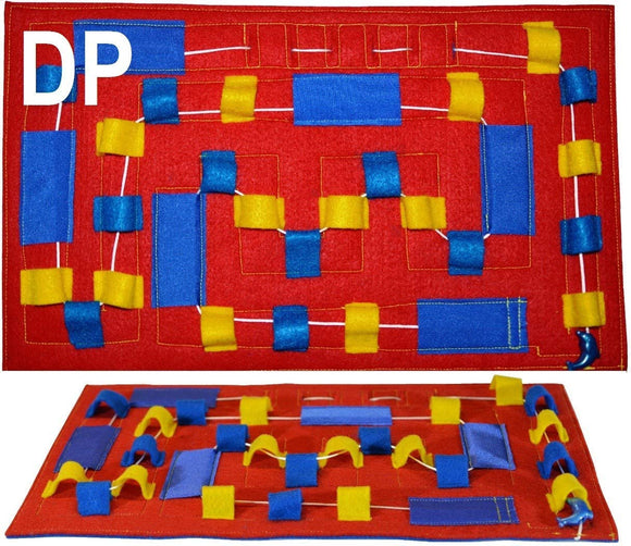 HandiThings DP Dolphin Playground Toy, Red, Blue, Yellow, One Size