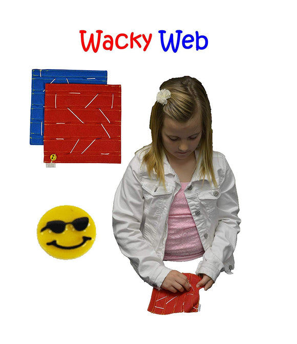 HandiThings WW  Wacky Web Toy, One Size, Red, Blue