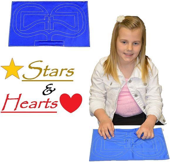 HandiThings S&H  Stars & Hearts, One Size, Blue