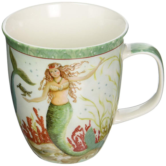 Coastal Tropical Mermaid Coffee Latte Mug