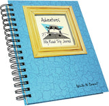 "Journals Unlimited ""Write it Down!"" Series Guided Journal, Adventure, My Road Trip Journal, with a Blue Hard Cover, Made of Recycled Materials, 7.5""x 9"""