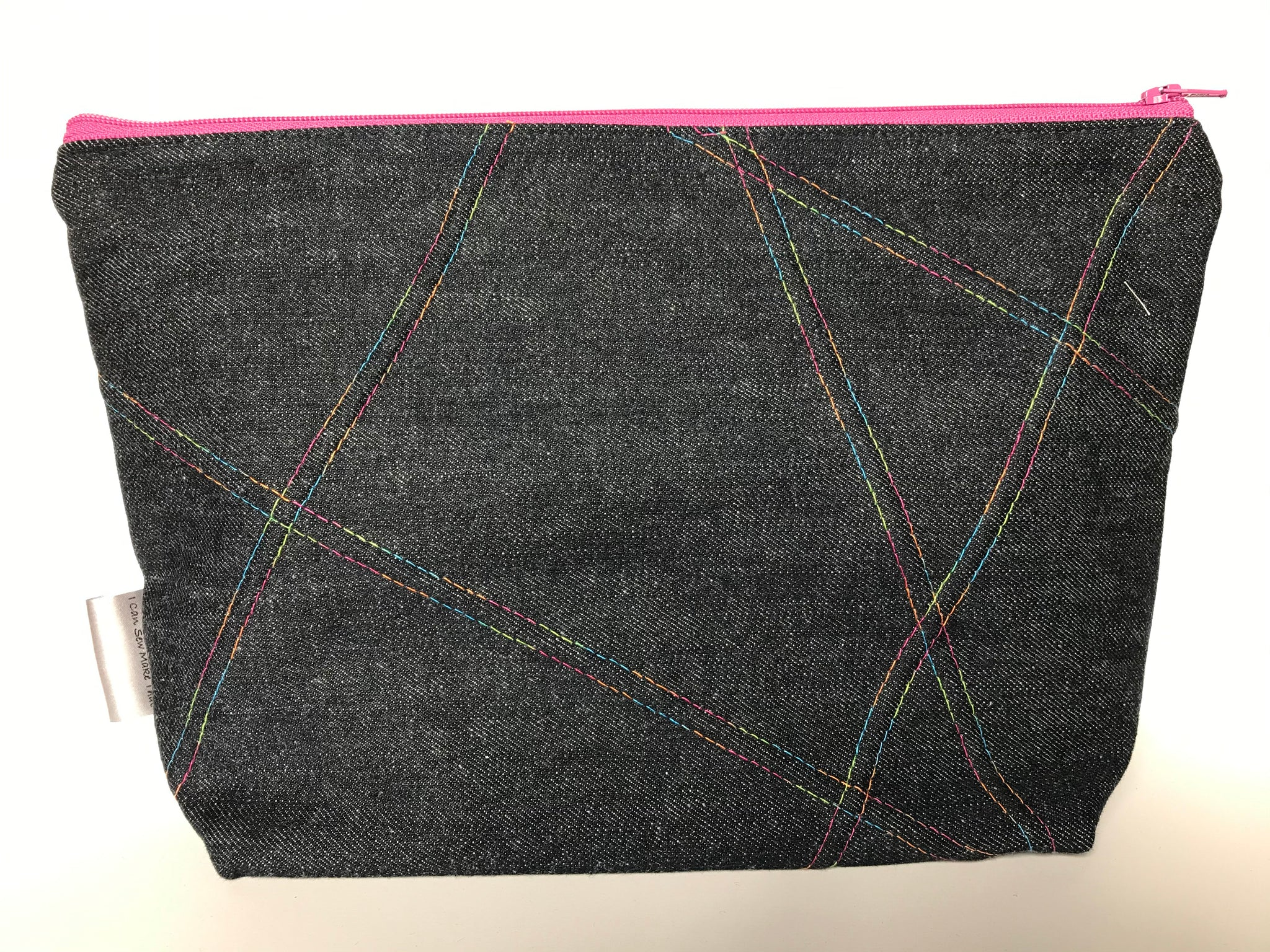 Small Zippered Project Bag - Variegated Thread Design