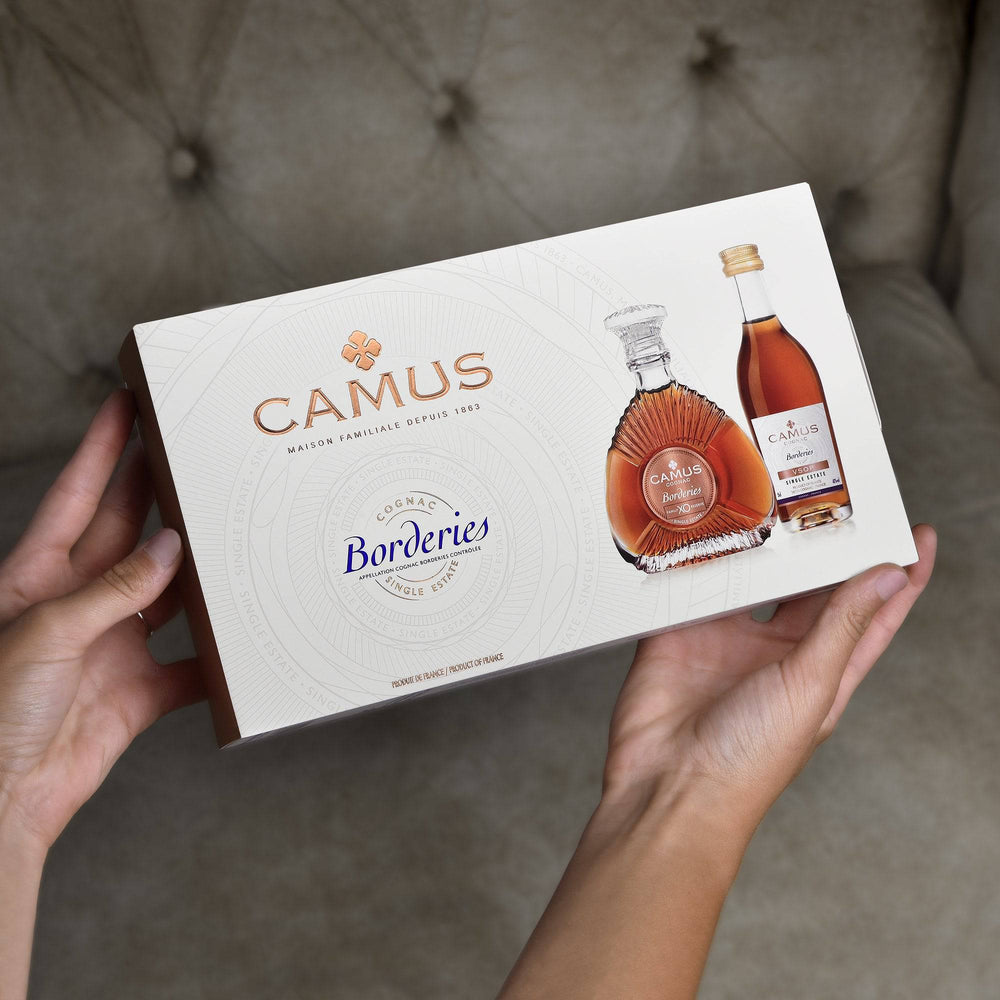 CAMUS COGNAC MINI SET COLLECTION BORDERIES SINGLE ESTATE (VSOP & XO)