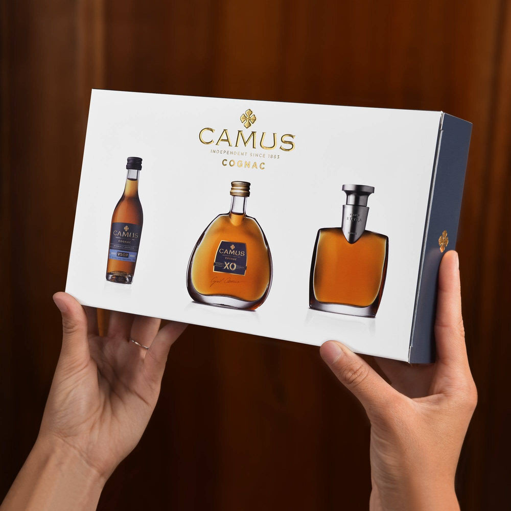 CAMUS COGNAC MINI SET COLLECTION INTENSELY AROMATIC (VSOP - XO - EXTRA)