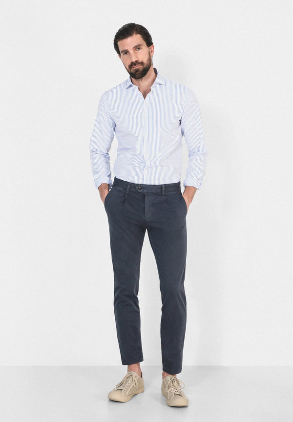 GESTREIFTES HEMD SLIM FIT