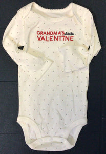 Just One You ( Carters)- Onesie 12 Months - Grandma's little Valentine