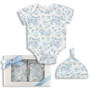 Harry & Violet - 2-Piece Boy's Layette Box Set- Cap & Bodysuit