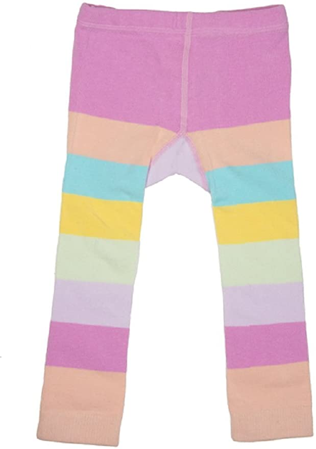 Ganz Baby Girl Striped Rainbow Leggings 0-12 Months - Unicorn