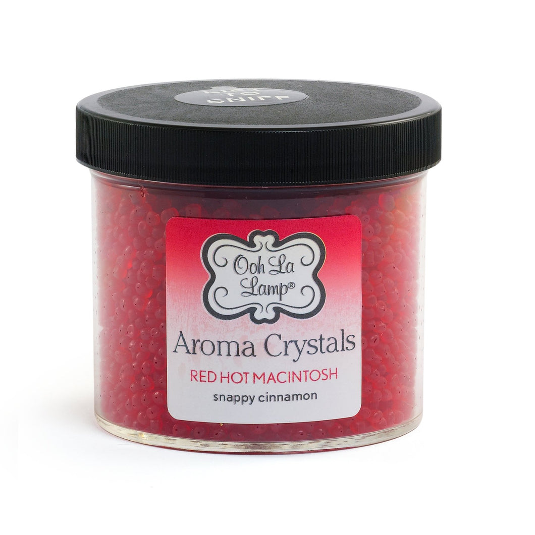 LA-TEE-DA - AROMA CRYSTALS - RED HOT MACINTOSH - HOLIDAY CINNAMON SNAPS - 12 OZ
