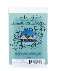 LA-TEE-DA! - WAX MELT - BEACHFRONT CABANA - SEASHORE MUCK - 2.5 OZ