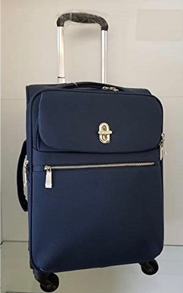 Simply Noelle - Navy Nylon Rolling Suitcase