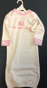 Ganz - Newborn Sleeper - Hello I'm New here - 0-6 Months- Pink