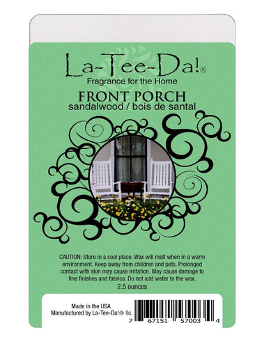 LA-TEE-DA! - WAX MELTS - FRONT PORCH - SANDALWOOD - 2.5 OZ