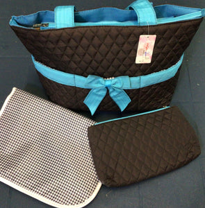 Rosen Blue - Diaper Bag - 3 Piece Set - Comes in 3 Colors