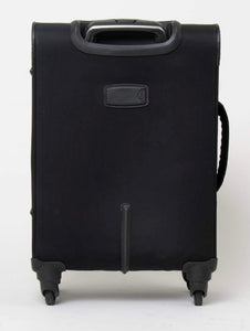 Simply Noelle Black Nylon Rolling Suitcase