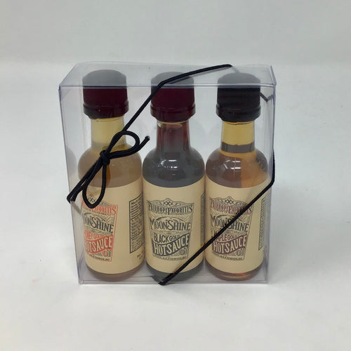 Fairhope Favorites - (3 PK) Hot Sauce 1 each 1.75 OZ. of Honey Gold, Black Gold & Maple Gold