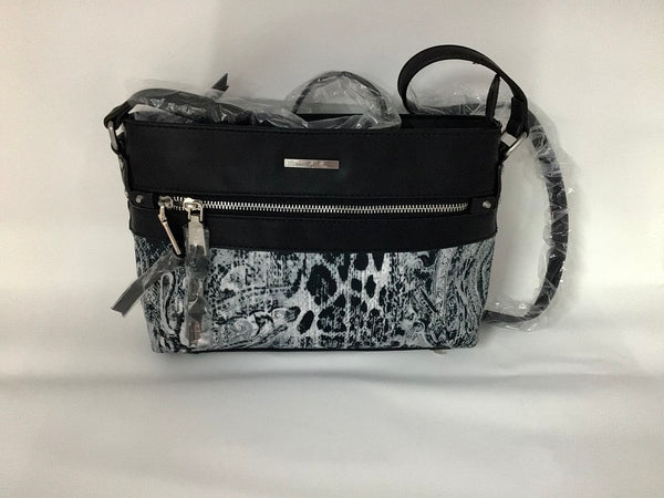 SIMPLY NOELLE - BLACK ANIMAL PRINT PURSE - HB4175