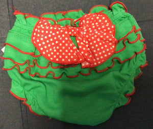 Ganz - Christmas Ruffled Baby Bloomers- 0-6 Months