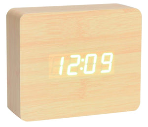 Mad Man ( by Mad Style - Square Oak Wood Digital Clock)