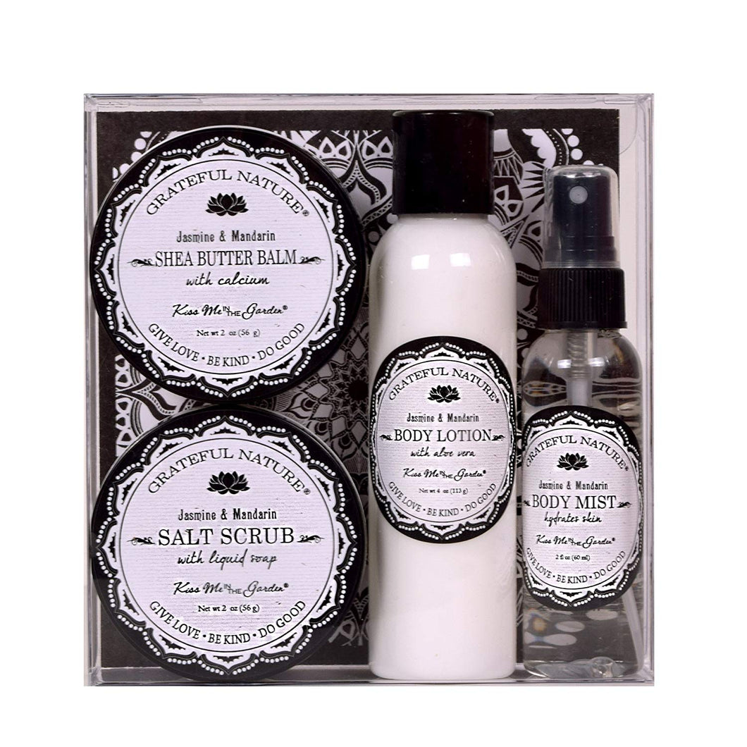 Kiss Me In The Garden-  Grateful Nature 4pc Gift Set- KISS00055