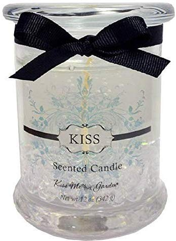 Kiss Me in the Garden - Kiss Collection - 12 Ounce Gel Candle with Crystals/Item # Kiss00089